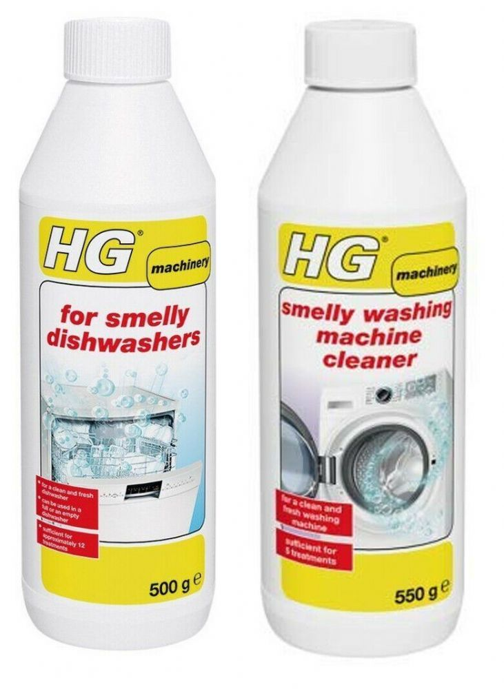 HG Smelly Washing Machine Cleaner 500g + Dishwasher Cleaner 500g